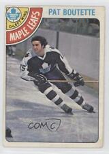 1978-79 O-Pee-Chee #374 Pat Boutette Toronto Maple Leafs Hockey Card