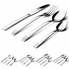 Sabichi 16 Piece Cutlery Modern & Timeless Stainless Steel Multiple Designs