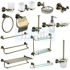 Bath Accessory Toilet Antique Brass Towel Rail Rack Bar Robe Hook Soap dispenser