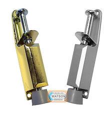 125mm Kick Down Foot Operated Door Stop SAA ALUMINIUM (Silver) & BRASS Stopper