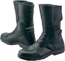 Prexport San Marco Black Leather Motorcycle Waterproof Boots New RRP £99.99!!!