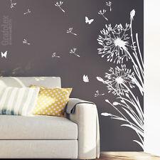 Wandtattoo Pusteblume Löwenzahn Schmetterlinge Wand Aufkleber Sticker Blume z322