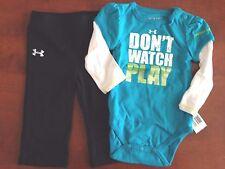 UNDER ARMOUR NWT Infant Girl 2PC Set Logo Tee Top Shirt Pants Legging 3 6 3m 6m