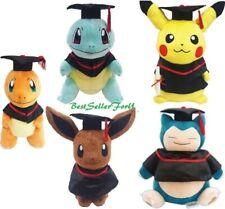 "12""~17"" Pokemon Graduation Plush Grad Gift Soft Stuffed/Beanbag Animals Doll Toy"