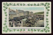 Ireland Co Cork BANTRY Market day Shamrock  PPC