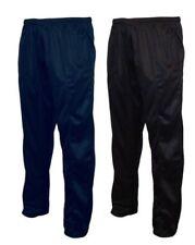 enfants garçons uni sport polyester pantalon de survêtement noir/MARINE 6-15 An