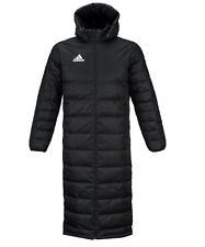 Adidas Men Tiro 17 Long Coat Jacket Winter Black Hooded Jumper Jackets BS0056