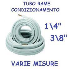 """TUBO RAME CONDIZIONAMENTO CLIMATIZZATORE 1/4"""" 3/8"""" KME METRI 3 5 10 15 20 25 50"""