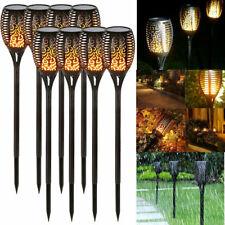 2/4/8Pack Solar LED Flickering Landscape Lamps Dancing Flame Torch Garden Lights