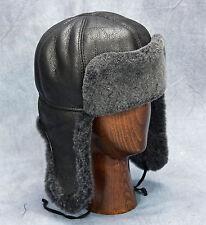 NEW Aviator Hat (Black) - 100% Sheepskin by Northern Hats (SKU: 179K-BLK)