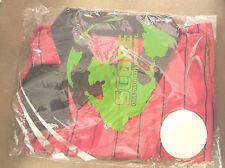 Score Mens Soccer Referee Jersey L/slv Red-Black trim stripe 100% polyester NWT