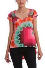 Desigual Yury Top S - XL 10-16 RRP�64 Soft Modern Loose Shape Orange Pink Bright