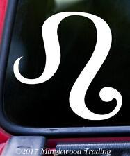 Leo Vinyl Sticker - Astrology Zodiac Sign Fire The Lion - Die Cut Decal