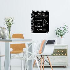 Tafelfolie Einkaufszettel, Wandsticker, Wandaufkleber, Wanddekoration