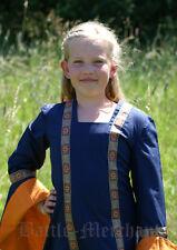 Battle Merchant Kinderkleid Lenne Blau Kinder-Kleid Mittelalter LARP 8-12 Jahre