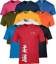 Judo Kanji Artes Marciales Camiseta de Manga Corta