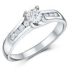 Cobalto Anillo Solitario De Compromiso Multi-piedra Alto Pulido anillo