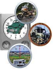 Wanduhr eigenes Foto: Fahrzeug Auto Motorrad LKW Wohnwagen Urlaub KFZ Transport
