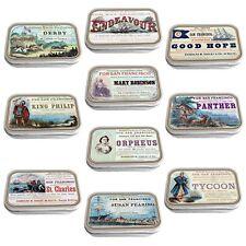 Vintage Ship Adverts Slim Hinged 1oz Tin Tobacco Storage Choose Your Design