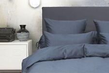 HnL-Bettwäsche oder Kissenbezüge, Mako-Satin-Baumwolle PUNTINI! Fb. steel blue