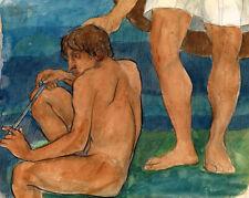 KUZMA PETROV VODKIN SEATED YOUTH Expressionism Art Giclée Prints art decor