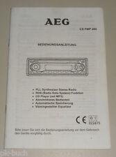 Betriebsanleitung AEG CS FMP 200