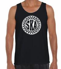 Ska Circle Logo Men's Vest Tank Top - Mod The Specials 2 Tone T-Shirt