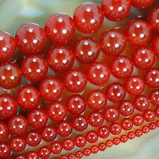 Orange Red Agate Round Gemstone Beads 4mm 6mm 8mm 10mm 12mm 14mm 16mm Pick Size