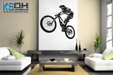 "Wandtattoo ""Downhill"" Mountainbike Radfahrer"