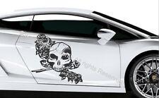 SKULL-Wall Art Vinile/Adesivo ref 8 auto, furgone, barca, bici Tablet