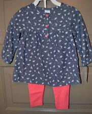Carter's Infant Toddler Girl's Playwear Set  Sizes 12M 18M 24M  NWT Pink