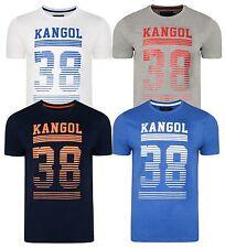 Kangol Nuovo da Uomo Handley Stampa Slim T-Shirt di Marca Logo Maglia S M L XL