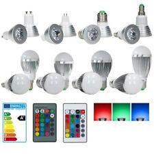 3W/5W/9W RGB LED SPOT E14/ E27/ GU10/ MR16 BIRNE MIT FERNBEDIENUNG DIMMBAR LAMPE