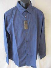 Van Heusen Cotton Blnd Long Slve Ampara Blue Striped Point Shirt SR$54 NEW