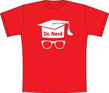 "T-SHIRT MAGLIETTA  S - M - L - XL  ""Dr. NERD"" GEEK FUNNY DIVERTENTE"