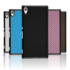 Coque Rigide Sony Xperia Z3+ / Plus - look carbone  + films de protection
