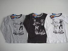 Longarmshirt 3er o. 2er-Pack Shirt Langarm Hannah Montana 128 weiß, grau,schwarz