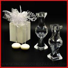 Bomboniere matrimonio anniversario porta candele vetro idee prezzi bassi