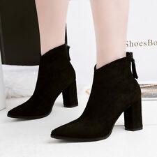 stivali stivaletti bassi scarpe anfibi 3 cm nero  eleganti simil pelle 9634