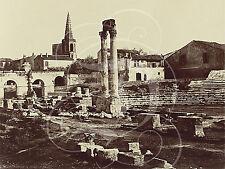 PLAQUE ALU REPRODUISANT UNE PHOTO DE EDOUARD BALDUS THEATRE ROMAIN ARLES