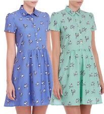 Sugarhill Boutique Birdie Dress Blue / Green XS-XL UK 8-16 Cute Shirt Style