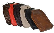 Leather Cigarette Case Pack Holder Regular or 100's Lighter Pocket
