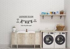 Laundry Room Open 24 hours Inspired Design Decor Wall Art Decal Vinyl Sticker