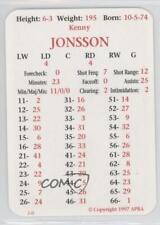 1997-98 APBA #KEJO Kenny Jonsson New York Islanders Hockey Card