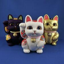 """handgefertigte Winkekatze - Edo Kimekomi Doll """"Manekineko"""" aus Japan"""