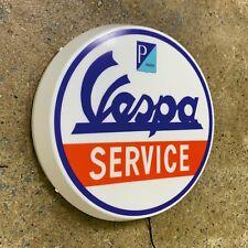 Vespa Service Roller LED Beleuchtet Wand Licht Zeichen Benzin Garage Automobilia