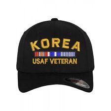 Flexfit BASEBALL Military Cap Hat KOREA USAF AIR FORCE VETERAN RIBBON
