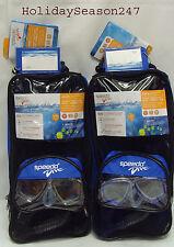 Speedo Dive REEF SCOUT Mask+Snorkel+Fin Junior 6-14 Swimming Diving Snorkeling