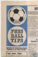 BL 76/77 Karlsruher SC - Eintracht Braunschweig TIPS