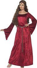 Costume Carnevale Donna Cameriera Medioevale Travestimento PS 08132
